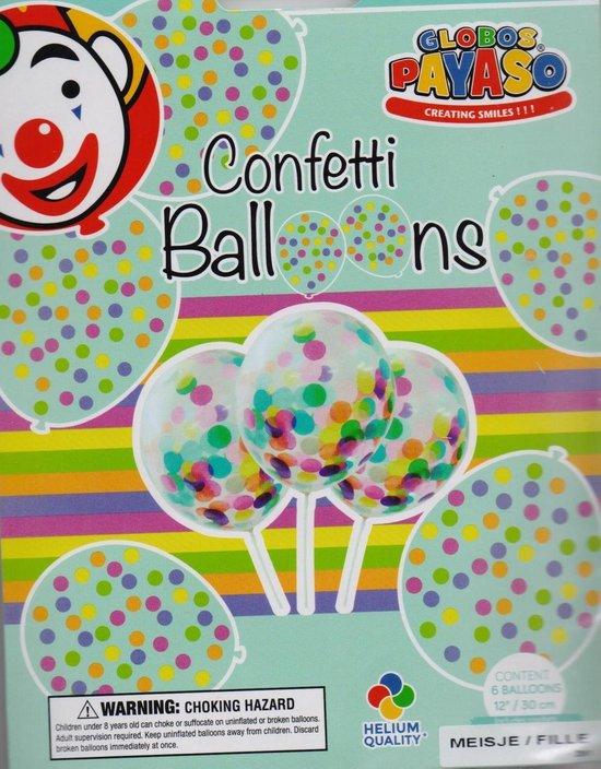 Confetti ballonnen meisje