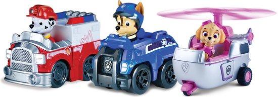 Afbeelding van PAW Patrol Reddings Voertuigen Marshall, Spy Chase en Skye speelgoed