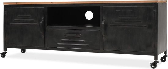 VidaXL Tv-meubel - 120x30x43 cm - Zwart