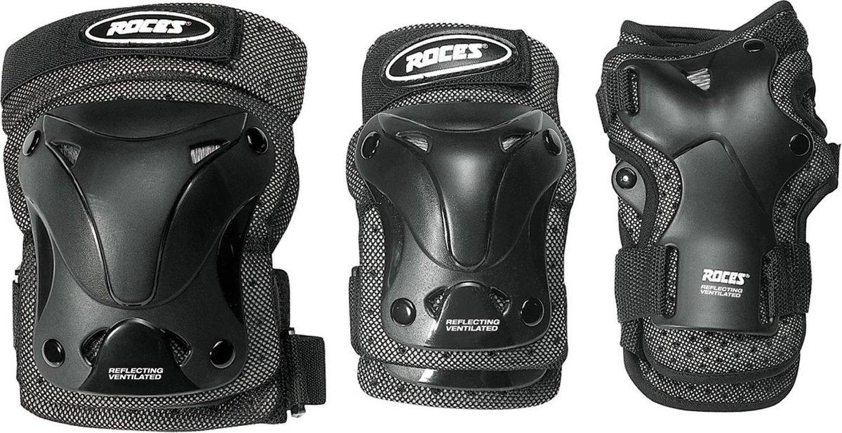 ROCES Beschermset Unisex VENTILATED 3-PACK - Zwart XL
