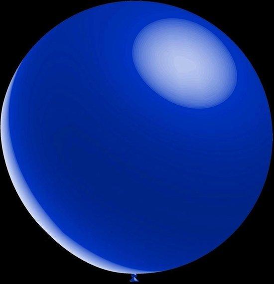 50 stuks - Decoratieve ballonnen - 30 cm - metallic donker blauw / navy blue professionele kwaliteit