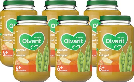 Olvari Doperwten, Kip & Aardappel (6 maanden)