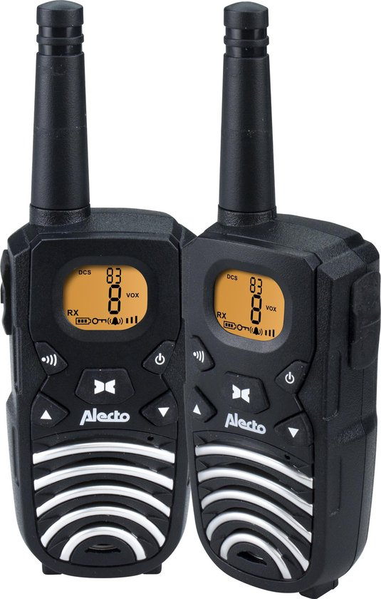 Alecto FR-50 Portofoon Twinset 8km - Bereik tot 8km en met FM radio - Zwart