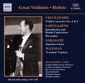 Jascha Heifetz - Vieuxtemps: Violin Concertos nos 4 & 5; Saint-Saens