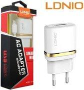 LDNIO AC50 Lader oplader met 1 Meter Micro USB Kabel geschikt voor o.a Samsung Galaxy Note 2 3 4 Neo Edge