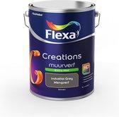 Flexa Creations Muurverf Extra Mat - Industial Grey - Mengkleuren Collectie - 5 Liter