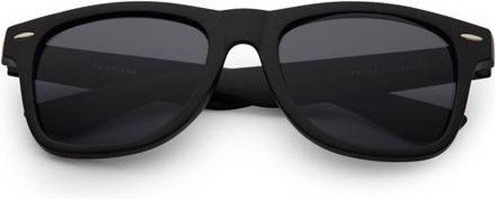 Freaky Glasses® | Wayfarer style zonnebril mat zwart met UV-400 lenzen