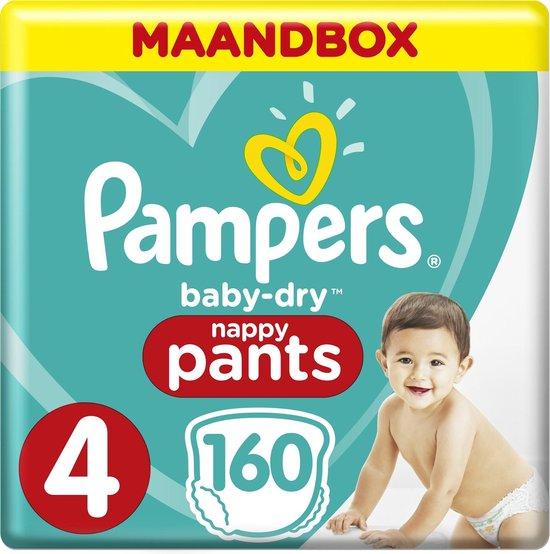Pampers Baby-Dry Pants Luierbroekjes - Maat 4 (9-15 kg) - 160 stuks - Maandbox