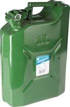Benzinekan 10L Groen Metaal TUV/GS - Jerrycan 10 liter