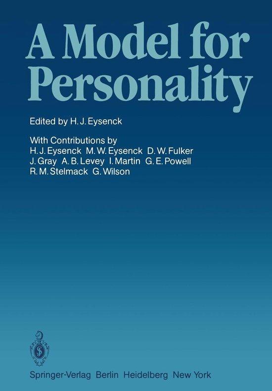 Boek cover A Model for Personality van  (Onbekend)