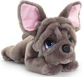 Keel Toys pluche Franse bulldog grijs honden knuffel 32 cm - Honden knuffeldieren - Speelgoed voor kind