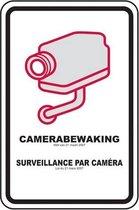 Camerabewaking waarschuwingsbord