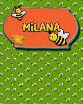Handwriting Practice 120 Page Honey Bee Book Milana