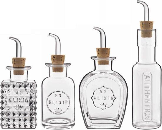 Luigi Bormioli Elixir Olie-azijnset 4-delig