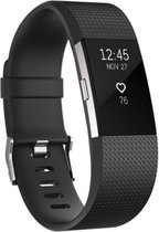 HappyStrappy. Siliconen bandje - Fitbit Charge 2 - zwart - Small