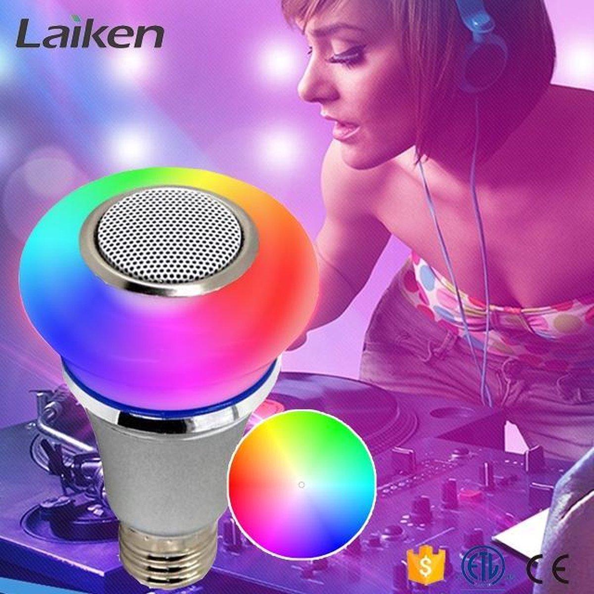 SMART-CONTROLLED MUSIC LED-LAMP - 5W RGB+ - 3W BLUETOOTH SPEAKER - Voordeelset 3 stuks