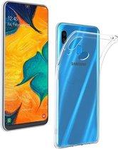 Samsung Galaxy A20e Hoesje - Siliconen Backcover - Transparant