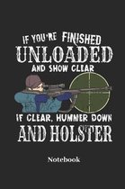 If You're Finished Unload and Show Clear If Clear, Hummer Down and Holster Notebook