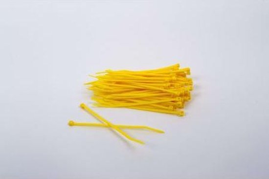 1000 stuks Gele kabelbinders 2.5mm x 100mm (099.0392)