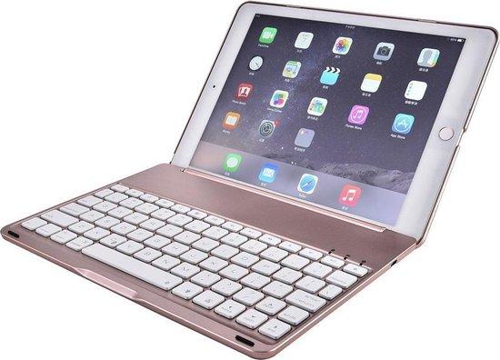 Shop4 iPad Pro 9.7 Toetsenbord Hoes Bluetooth Keyboard Cover Roze