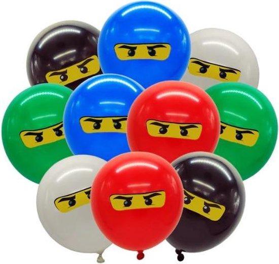 Lego Ninjago Ballonnen 30 cm .Geschikt voor Kinderfeestje | Thema Feest |Verjaardag |Versiering.