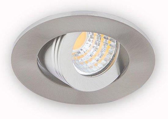 Groenovatie Inbouwspot LED - 3W - Rond - Kantelbaar - Ø 53 mm - Dimbaar