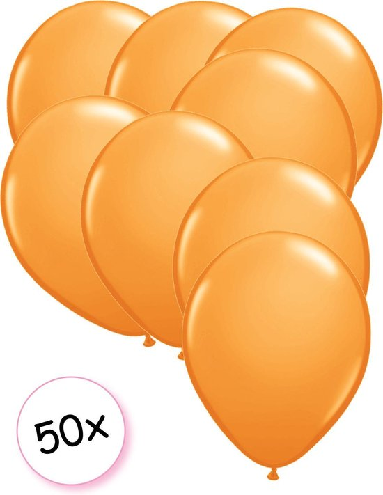 Ballonnen Oranje 50 stuks 27 cm