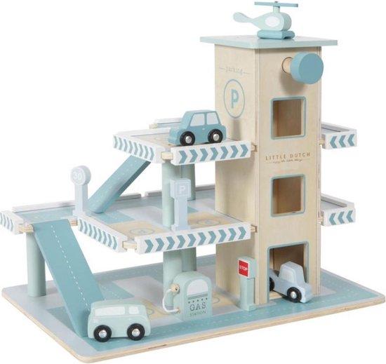 Afbeelding van Little Dutch Speelgoed Houten Garage speelgoed
