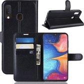 Samsung Galaxy A20e Hoesje - Book Case - Zwart