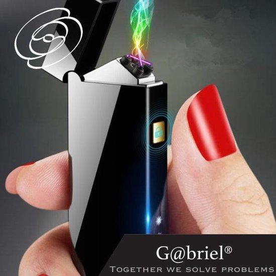 Plasma Aansteker Zwart Metallic Elektrische Oplaadbare