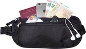 Heuptasje Zwart - Moneybelt  - Geldriem / Geldbuidel - Reisportemonnee voor een veilige reis