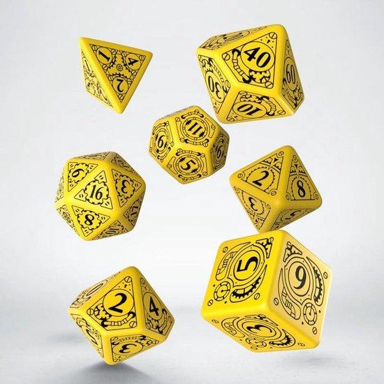 Afbeelding van het spel Steampunk Yellow & black Dice Set