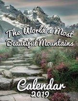 The World's Most Beautiful Mountains Calendar 2019