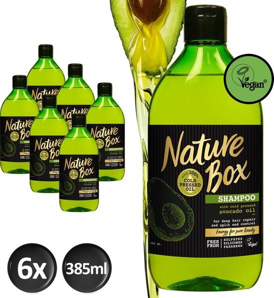 Nature Box Avocado Shampoo Vegan 385ml - 6 stuks - Voordeelverpakking