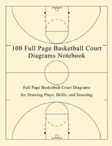 100 Full Page Basketball Court Diagrams Notebook