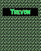 120 Page Handwriting Practice Book with Green Alien Cover Trevon