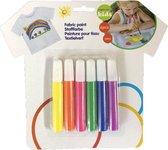 Textielverf voor kinderen - 6 kleuren