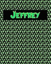 120 Page Handwriting Practice Book with Green Alien Cover Jeffrey