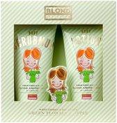 Blond Amsterdam Geschenkset - Scrubmud en Bodylotion Green Florals/ Apple