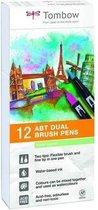 Tombow ABT Dual - Brush tekenpennen - Pastel kleuren - Set van 12