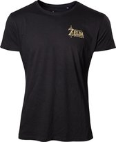 Zelda Breath of the Wild - Golden Game Logo on Back T-shirt - 2XL