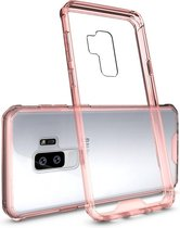 Let op type!! Voor Galaxy S9 + acryl + TPU dekken schokbestendige transparant Armor beschermende back cover(Magenta)