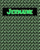 120 Page Handwriting Practice Book with Green Alien Cover Jermaine