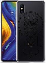 Xiaomi Mi Mix 3 Hoesje Dream Owl Mandala Black