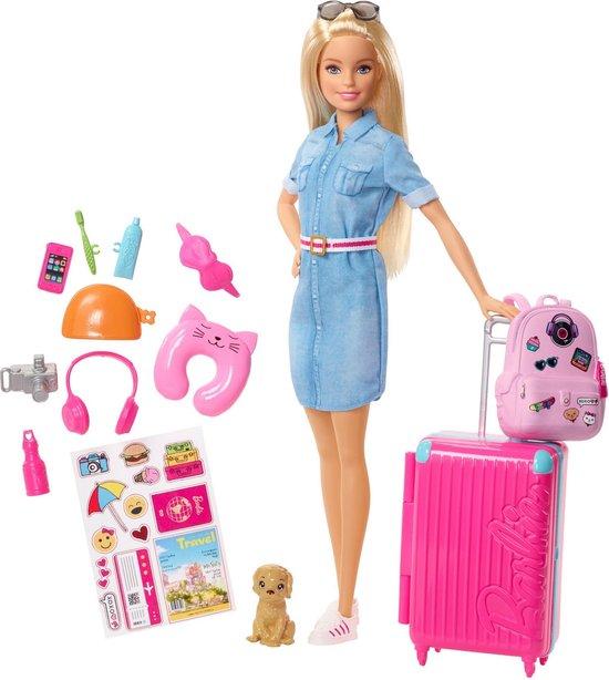 Barbie Travel Barbie Gaat op Reis - Barbiepop