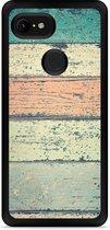 Google Pixel 3 XL Hardcase hoesje Steigerhout