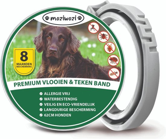 Honden Vlooienband - Tekenband -  Incl. Vlooienkam hond