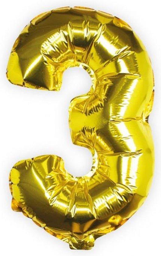 Ginger Ray Pick & Mix - Folieballon cijfer 3 - goud