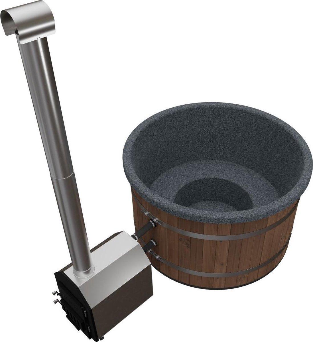 Welltub - Hottub met externe kachel - Antraciet grijs