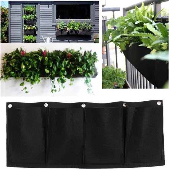 Hangende Moestuin Balkon -  Horizontale Plantenzak - Verticale Moestuin - Plantenhanger Tuin Hangend